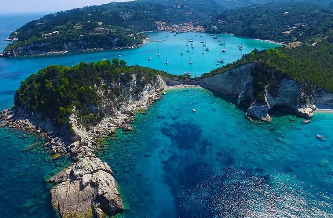 Paxos Antipaxos Blue Caves Corfu Tourist Services